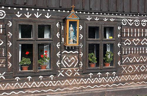 Čičmany - malované roubenky