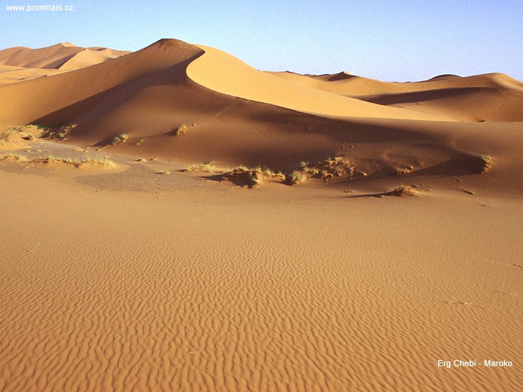 Písečná duna Erg Chebi