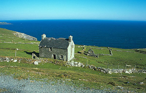 Opuštěný dům na ostrově Dursey