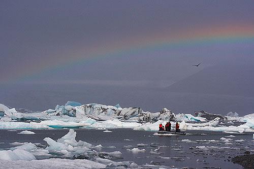 Ledovcová laguna Jökullsárlón