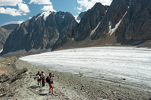 Altaj - nad ledovcem Velký Aktru