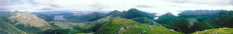 Panorama z hory Marsco, Cuillins