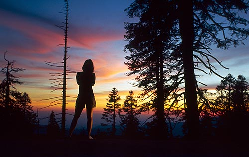 Západ slunce v Sierra Nevada