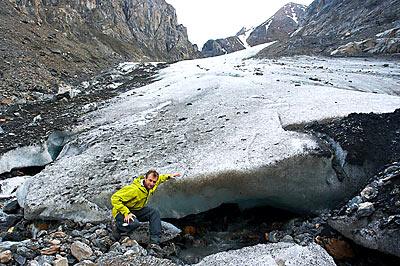 Ledovec Malý Aktru - srpen 2009