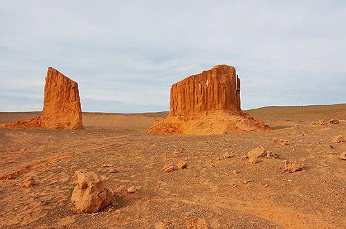Skalní útvary v Gobi