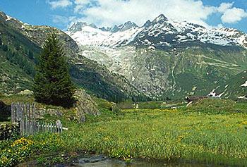 Rhônegletscher dnes
