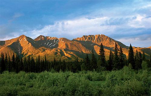 Aljaška - půlnoční hory