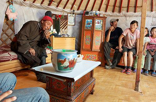 U pastevců v jurtě