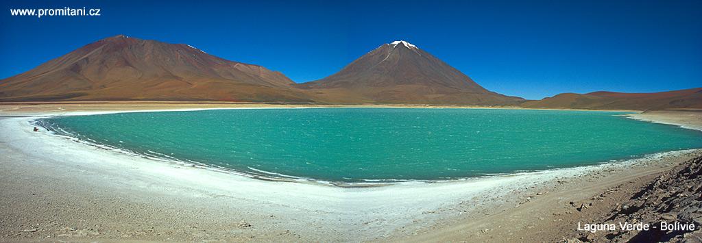 Laguna Verde a hora Licancábur - Bolívie