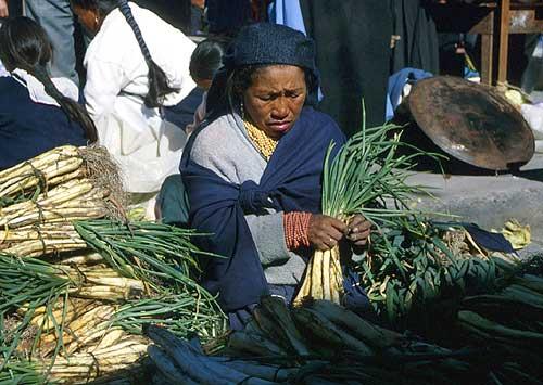 Sobotní trh v Otavalu