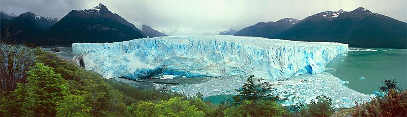 Panorama ledovce Perito Moreno