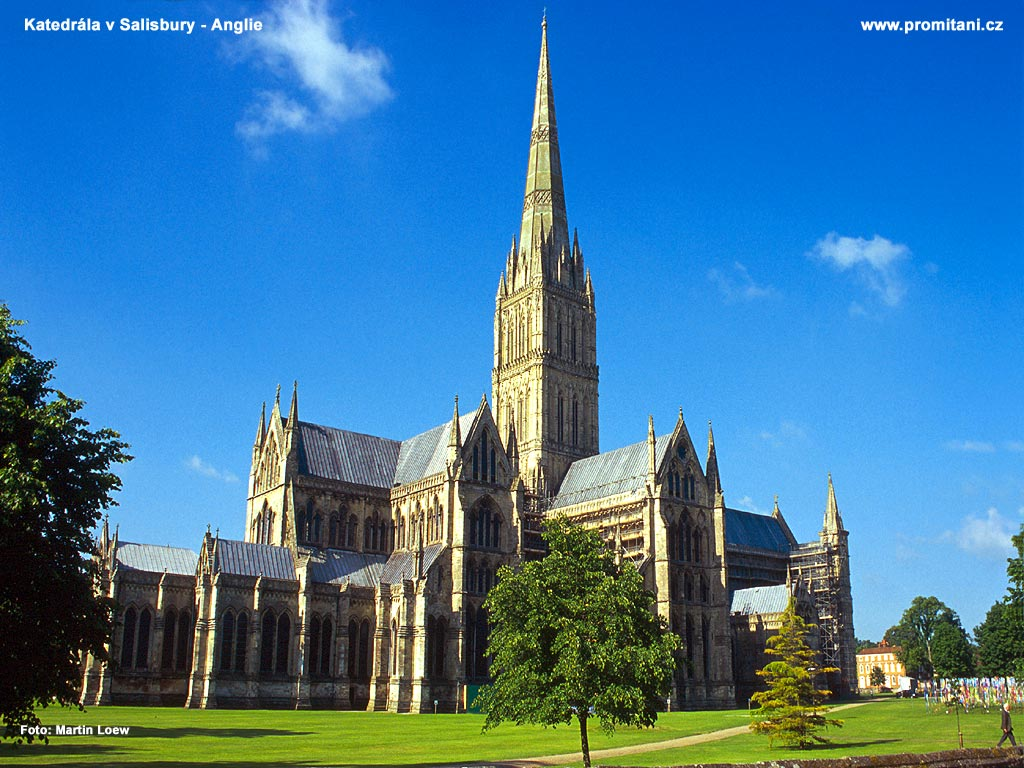 Katedrála v Salisbury - Anglie