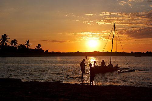 Madagaskar: Západ slunce