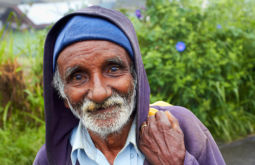 Tamilský muž z čajových zahrad