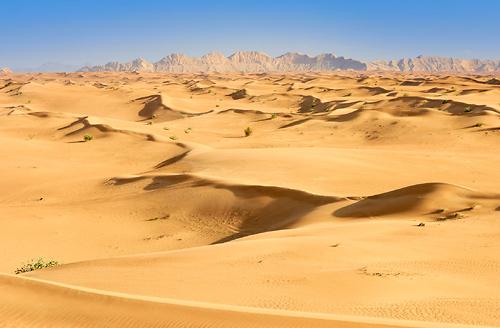 Písečné přesypy v poušti